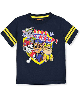 """Paw Patrol Little Boys' Toddler """"Here to Help!"""" T-Shirt (Sizes 2T - 5T)"""