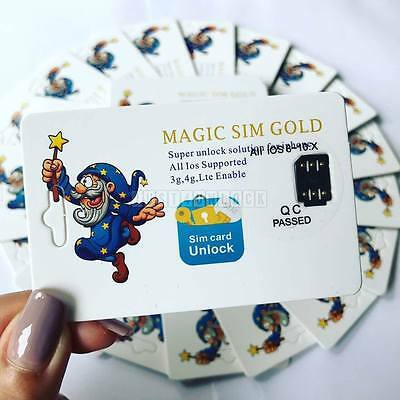 Unlocking Magic Sim Card Gold  For iPhone 4 4S 5 5C 5S SE 6 6+ 6S 6S+ 7 7+