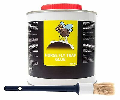 (€ 26,60/l) Horse FlyTrap Glue FliegenKleber+Pinsel 750 ml f.Horse Fly Trap Ball