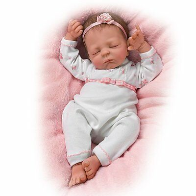 ASHTON DRAKE Cuddle Caitlyn baby doll lifelike warming feature by Violet Parker