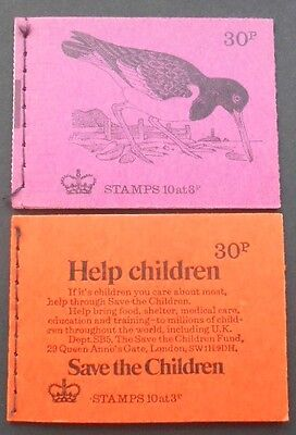 GB 30p Booklets DQ72 & DQ73 - Birds series 1973-74 - mint condition