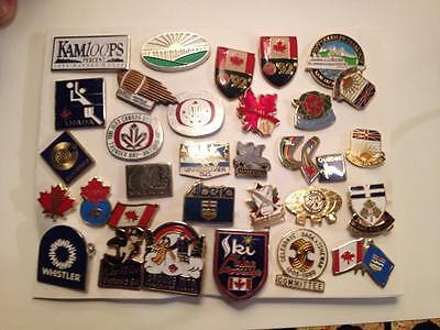 Lot of 31 Canadian Theme Assorted Lapel Pins