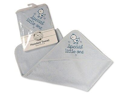 Baby Cotton Hooded Towel With Embroidery Blue - Special Little One