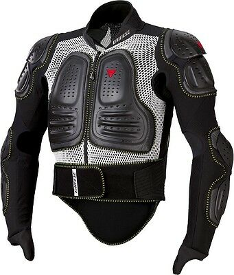 Dainese Ultimate Jacket Evo Body Armour Top, S, White/Black