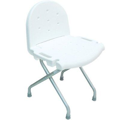 Invacare Folding Shower Chair With Back, 250lb Weight Capacity