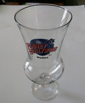 Planet Hollywood Dallas Hurricane Glass, Collectors Item Free Shipping!!!