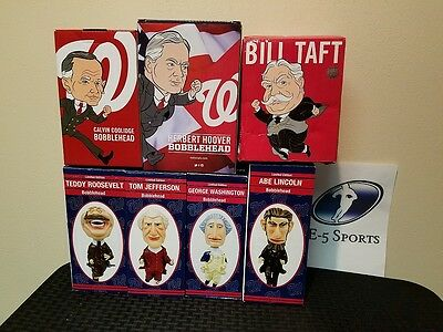 Washington Nationals Racing Presidents Set of 7 Bobbleheads with Original Boxes