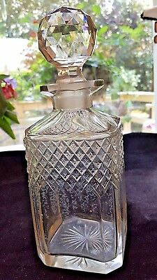 Vintage Crystal Cut Glass Whiskey Decanter