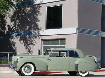 1941 Lincoln Continental Continental V12 Coupe 1941 Lincoln V12 Continental Coupe Beautiful Restoration Former 100 Point WINNER