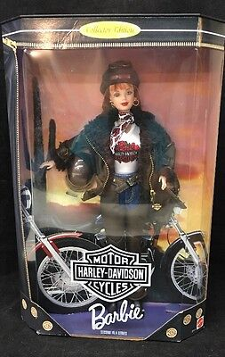 HARLEY DAVIDSON Motor Cycles BARBIE 1998 Mattel with Chaps #20441 NRFB NEW