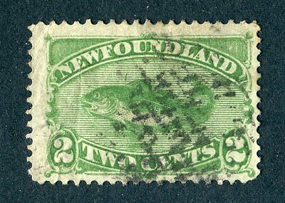 Newfoundland 1880/1896? 2c green. Used.