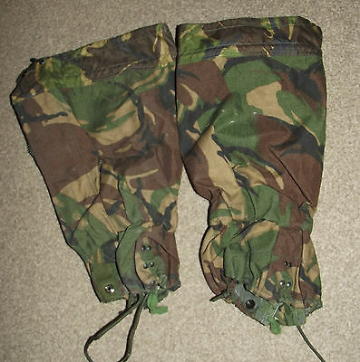 British Army Issued Camo Leg Gaiters In Camo - Standard Size