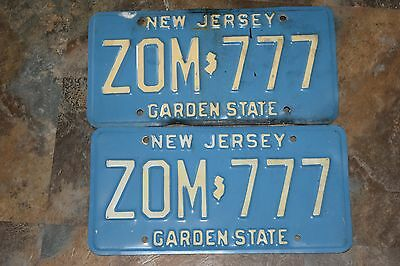 New Jersey License Plates Set of 2