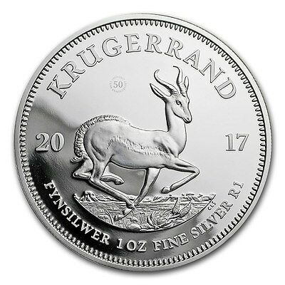 SPECIAL PRICE! 2017 South Africa 1 oz Silver Krugerrand Proof Coin - SKU #152208