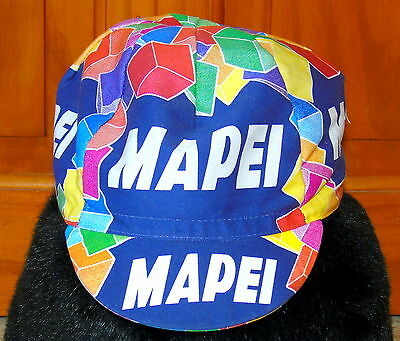Bnwot Vintage Mapei Cotton Cycling Cap Made By Santini