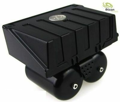 1:14/1:16 Battery Box with tanks from Aluminum Black