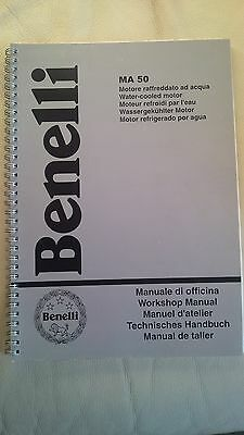 Benelli Original Workshop Manual MA 50 Water Cooled Motor