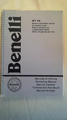 Benelli Original Workshop Manual MY 50 Air Cooled Motor