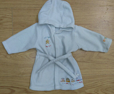 Mothercare Baby Boys Bathrobe Age 3-6 Months Dressing Gown