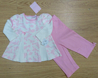 SAVANNAH BABY tunic floral dress tight GIRLS OUTFIT BUNDLE AGE 3-6 MONTHS NEW