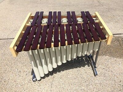 -Bergerault Orff Chromatic Bass Xylophone W Stand And Resonaters,GREAT CONDITION