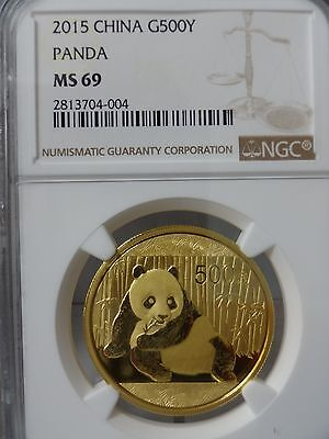 2015 China Gold Panda (1 oz) 500 Yuan - NGC MS69