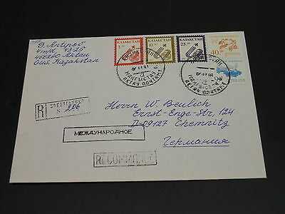 Kazakhstan 1996 registered cover to Germany *2058