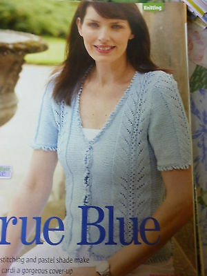 PatternTo Knit Lady's Very Pretty Short Sleeve Cardigan Cotton D.K- 32-42in Bust