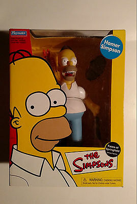 "THE SIMPSONS Homer Simpson Faces Of Springfield 9"" Figure Playmates MIB WOS"