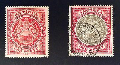 Two Stamps From Antigua -  E Vii R