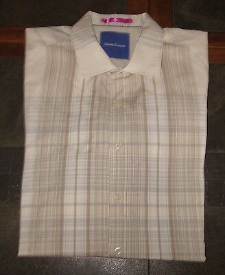 Men's Tommy Bahama Long Sleeve Flip Cuff Button Up Shirt Size Large LG L