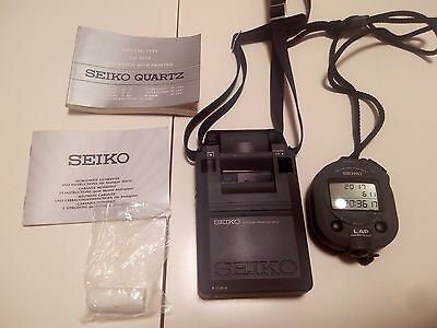 RARE Seiko S124-4000 PRO Stopwatch & SP12 Printer set W/ case hardly used