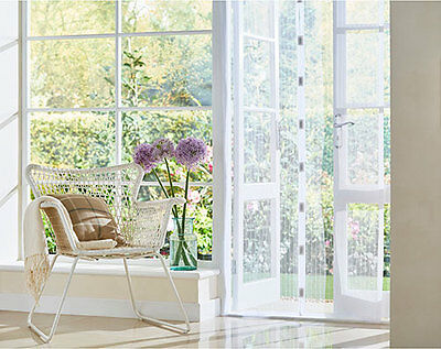 Magnetic Mesh Door Fly Screen Curtain White L210 x W90