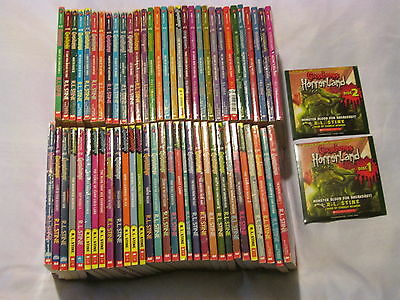 COMPLETE set of Goosebumps Original Series by R L Stine # 1-62 + Audio CD B28