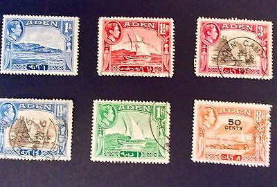 Eight Stamps From Aden - G Vi R