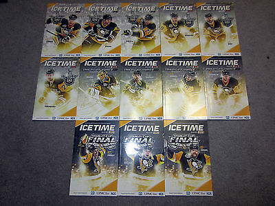 Pittsburgh Penguins 2016-17 Complete Season Icetime Magazine 53 Game Program Set