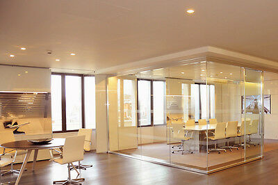Glass Office Partitions, doors and panels Made to Measure-Toughened & Polished