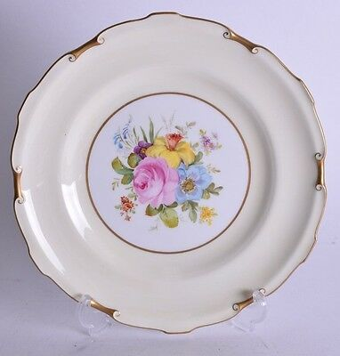 superb royal crown derby porcelain plate -  painted by cuthbert gresley