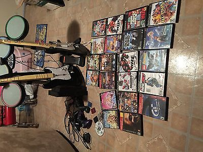 PS2 backwards compatible console with 45 games, 3 controllers
