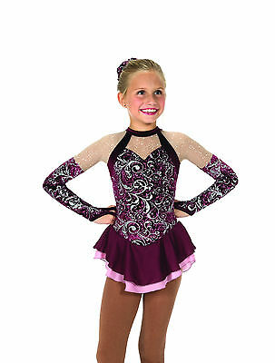 New Jerrys Competition Skating Dress 29 Eau de Bordeaux Dress Made on Order