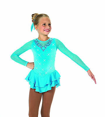 New Jerrys Competition Skating Dress 44 Crystal Waters Made on Order
