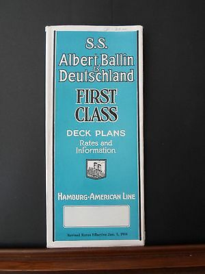 S.S. Albert Ballin & Deutschland , 1934, 1st Class, Deck plans