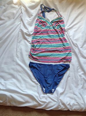 Ladies Maternity Mothercare Tankini Two Piece Swimming Costume Size 14