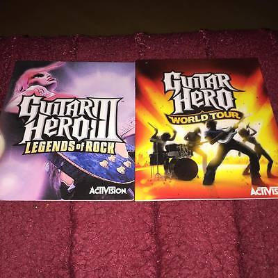 Manuals For Guitar Hero Legends Of Rock & World Tour Ps3 No Game Disc Included