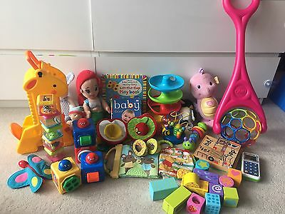 Baby Toys Bundle Including Fisher Price And Oball