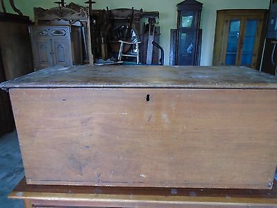 Antique Solid Walnut Blanket  Chest