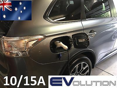 Portable EV Electric Car Charger J1772 6/10/15A 3.3kw EVSE Level 2 PHEV LEAF I3