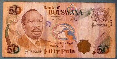 BOTSWANA 50 PULA NOTE FROM 2000, P 22, SIGNATURE 8 a