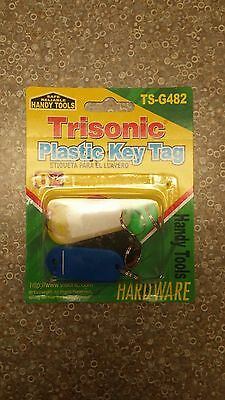 6 Plastic Key rings Tags ID Labels Red Yellow White Green Blue Black