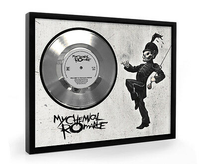 My Chemical Romance The Black Parade Framed Silver Disc Display Vinyl (C1)